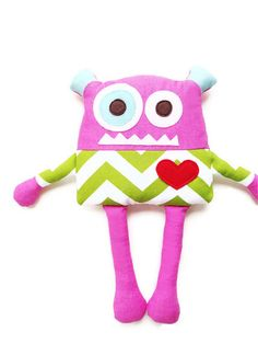 PDF Sewing Pattern Monster Doll Toy Sewing Pattern, Plush Softie Pattern