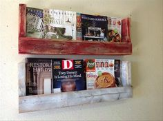 Pallet Wall hanging bookshelves not only looking beautiful and attractive but also compact in size and can be easily fitted in any place or to any wall. No doubt, this DIY pallet bookcase actually gives a fine-looking appearance of pallet wood crafting and also not take extra place at your home.