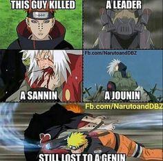 On est tous d'accord que naruto n'avait pas le niveau d'un genin . Naruto Vs Sasuke, Anime Naruto, Naruto Shippuden Anime, Naruto Art, Kakashi Sharingan, Naruto Quotes, Funny Naruto Memes, Funny Jokes, Manga Comics