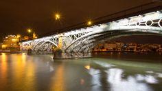 Hiszpania, Sevilla, Rzeka, Guadalquivir, Most, Triana Bridge