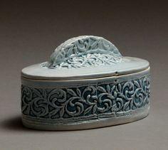Victorian Vines oval box 2198 by patsythola on Etsy