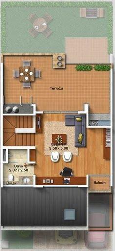 Planos de casas gratis de tres pisos en 127.50 m2 | | Planos de Casas