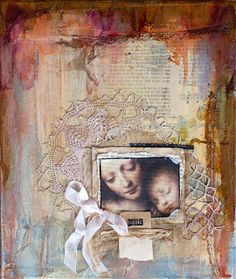 ORIGINAL Mixed Media collage on canvas by jillyvaniperen on Etsy, $65.00