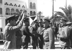 Rommel lands in Tripoli, Libya to take command of the Deutsches Afrikakorps, February 1941.[800x572]