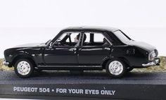 Peugeot 504 James Bond 007  black Model Car Ready-made SpecialC.-007 1:43 @ niftywarehouse.com #NiftyWarehouse #Nerd #Geek #Entertainment #TV #Products