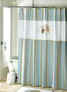By The Sea Shower Curtain Seaside Bathroombeach
