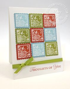 stampin up Stamp Sets:  Fresh Vintage (Sale-A-Bration Exclusive: Wood-Mount 125115, Clear-Mount 125117), Loving Thoughts (Wood-Mount 125843, Clear-Mount 125845)