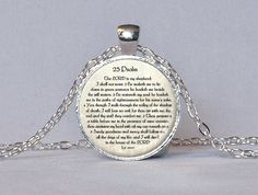 23rd PSALM JEWELRY Scripture Necklace Psalm 23 by ThePendantGarden