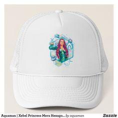 2afd42ae Aquaman | Xebel Princess Mera Hexagonal Graphic Trucker Hat Aquaman,  Baseball Hats, Baseball Caps