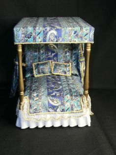 Dollhouse Miniature Bed on Etsy,
