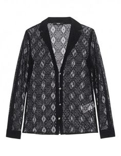 VERSUS VERSACE by ANTHONY VACCARELLO Fine Lace Button Black