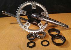 GT RACING 1 PIECE BMX CRANKSET - 175MM W/ SPIDER, BB, 44T CHAINRING- BMX BICYCLE #GT