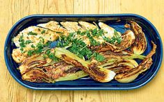 Chicken and Parmesan Fennel.  An elegant dinner that is high in flavour but low in calories.