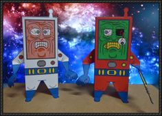 Panic at the Space - Stressed and Zombie Astronauts Free Paper Toys Download - http://www.papercraftsquare.com/panic-space-stressed-zombie-astronauts-free-paper-toys-download.html