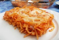 Tepsiben sült spagetti