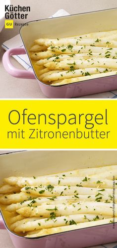 Ofenspargel mit Zitronenbutter Delicious out of the oven with tangy butter is prepared quickly and easily and tastes heavenly. Prepare now! Fish Recipes, Crockpot Recipes, Soup Recipes, Vegetarian Recipes, Dinner Recipes, Healthy Recipes, Best Meatloaf, Meatloaf Recipes, Paleo Soup