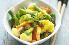 Receita de Legumes com Açafrão e Caril