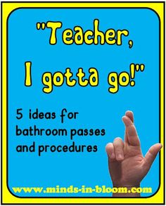 5 Ideas for Bathroom Passes and Procedures