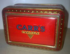Item - Vintage Carr s of Carlisle Sample Biscuit Tin Circa 1900-20s this particular example once contained Pineapple Jack s and was sent out to shops
