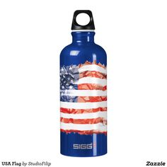 US Flag SIGG Traveler 0.6L Water Bottle | America's Birthday Party is just around the corner! Let's celebrate this 4th of July with joy & uplifting patriotic gifts!