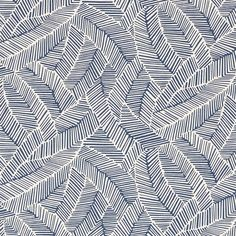 Fabric Patterns Good Vibration Abstract Leaf Fabric - Dense foliage is pared down to a graphic play of lines in this chic, abstracted pattern. This pattern is also a fabric and a wallcovering. Line Patterns, Textures Patterns, Fabric Patterns, Sewing Patterns, Zentangle Patterns, Zentangles, Surface Pattern, Pattern Art, Abstract Pattern
