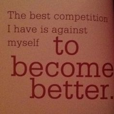 """The best competition..."" -John Wooden  #fitness #quotes"