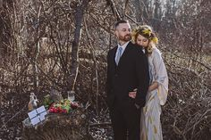 Bohemian fall wedding portriats | Photo by Roland Faistenberger Photography | Read more -  http://www.100layercake.com/blog/?p=82062