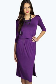 India Bagged Over Split Midi Dress alternative image