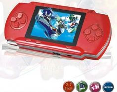 """DARK-RED 2.8"""" LCD Portable Game Console With AV-Out And TONS of Built-In Games, Game Disk Included - Best Gift for Kids    Product sku: 121Availability: 3Price: $39.99"""