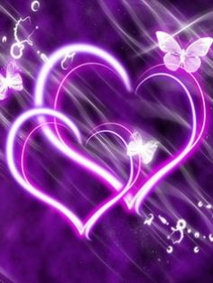 Purple Glow Hearts (Your favorite color) Purple Love, All Things Purple, Shades Of Purple, Pink Purple, Purple Hearts, Purple Stuff, Purple Candy, Heart Wallpaper, Love Wallpaper