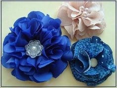 DIY Tutorial: Flower Crafts / DIY how to make a fabric flower - Bead&Cord