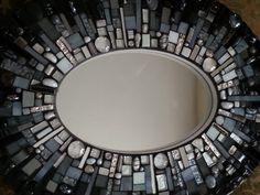 Black Oval Mosaic Mirror by anniekatsdesigns on Etsy