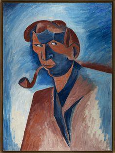 Bohumil Kubišta, Autoportrét, 1910