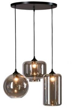 The Irene Pendant from Urban Habitat is ideal for giving your space contemporary style. This modern pendant showcases 3 lights that hang at differing lengths. Each light has a grey glass shade in a differing shape for an interesting look . Wood Pendant Light, Pendant Lamps, Interior Exterior, Interior Design, Living Room Redo, Grey Glass, Modern Lighting, Glass Shades, Lamp Light