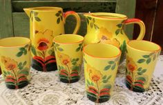 VINTAGE Beverage SET by BabylonSisters on Etsy, $45.00