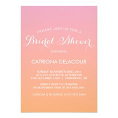 >>>The best place          Sunset Ombre Gradient Bridal Shower Invitation           Sunset Ombre Gradient Bridal Shower Invitation today price drop and special promotion. Get The best buyHow to          Sunset Ombre Gradient Bridal Shower Invitation Review on the This website by click the b...Cleck Hot Deals >>> http://www.zazzle.com/sunset_ombre_gradient_bridal_shower_invitation-161258059344511736?rf=238627982471231924&zbar=1&tc=terrest