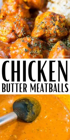 Chicken Butter Meatballs are the ultimate dinner idea to whip up. If you are a fan of butter chicken, then dive in to these juicy and flavorful meatballs today. #meatballs #recipe #chicken #butter #homemade #fromscratch Chicken Meatball Recipes, Chicken Lasagna, Chicken Meatballs, Paleo Butter Chicken Recipe, Butter Chicken Sauce, Lemon Chicken, Grilled Chicken, Lunch Recipes, Paleo Recipes