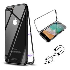 Bakeey 360° Magnetic Adsorption Metal Glass Protective Case for iPhone X/8/8 Plus/7/7 Plus/6s/6s Plus/6/6 Plus Sale - Banggood.com Iphone 8 Plus, 6s Plus, Protective Cases, Gadgets, Ipad, Iphone Cases, Apple, Online Shopping, Cases