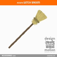 ACS071_WitchBroom. Part of D&M Character Kit. Witch Broom, After Effects Templates, Motion Graphics, This Or That Questions, Kit, Character, Accessories, Design