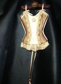 Sophia Romance UNDERMENTS Christmas Lingerie Ornament Decor OOAK Handmade (seller i.d. elina133)