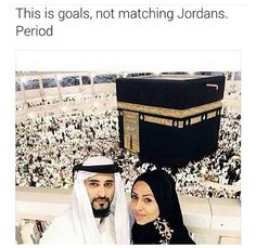 the_vintageista and her husband at Hajj!