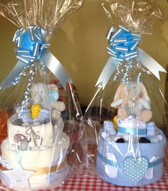 Small nappy cakes for boys
