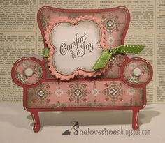 she Loves Shoes blog, Love you a latte cartridge.  I love the comfy sofa die cut on this cartridge!