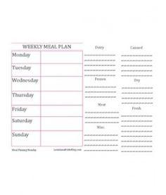 Weekly Meal Plan & Grocery List --free printable