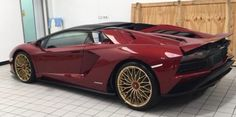 Lamborghini Aventador S Roadster painted in Rosso Metis  Photo taken by: @vinesh_mistry on Instagram   Owned by: the father of @the_luxurious_cars on Instagram
