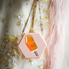 edie parker, bag, clutch, acrylic, ice cream, pink, outfit, inspiration