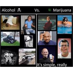 Sorry- personal opinion. I'd rather deal with a stoner than an alcoholic any day.