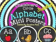 FREEBIE!! Free Chalkboard Alphabet Circle Posters!These little posters work great for an alphabet display, word wall header, or even flashcards. There are 3 font choices provided in this download.*print*primary lined*script ENJOY!