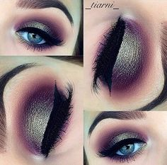 Stunning gold & maroon smokey eye by @_tiarni_ on instagram #makeup #makeuplook