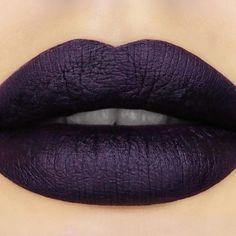 Dark Sided Pretty Poison Lipstick (Black Edition) By Sugarpill Cosmetics - Embrace your dark side in a luxuriously matte, deep plum lip.